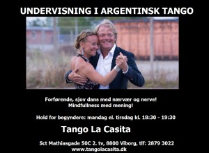 Tango La Casita plakat sort hvid1