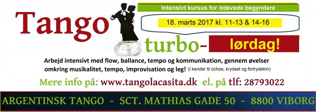Tango turbo - Lørdag, Tango La Casita, argentinsk tango, Viborg, tango, undervisning, dans viborg, milonga, kultur viborg, gavekort, foredrag, show, opvisning, Tango turbo opweekend, Turbo, workshop,
